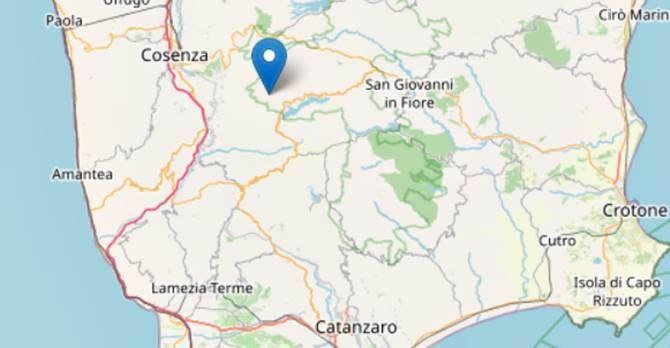Terremoto in provincia di Cosenza