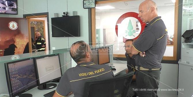 Sala operativa della direzione regionale Vigili del fuoco