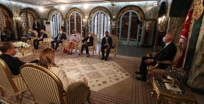 L'incontro a Tunisi - foto Ansa