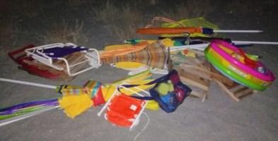 Falerna, ombrelloni e sdraio sequestrati sulla spiaggia libera: blitz al chiaro di luna
