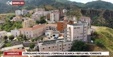 L'ospedale e il quartiere che scaricano la fogna nel torrente