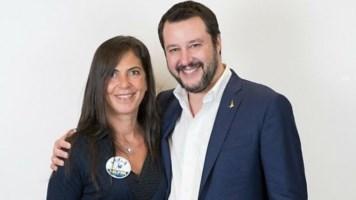 Marzia Casolati e Matteo Salvino