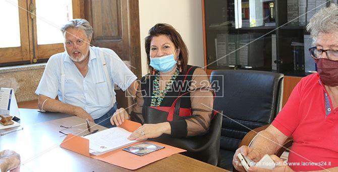 Vittoria Bianchi nel momento della presentazione della lista