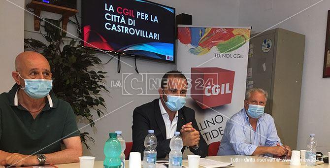 Un momento della conferenza stampa dell'Operazione Nerone