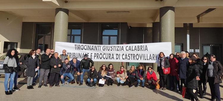 Il sit-in di gennaio presso il tribunale di Castrovillari