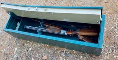 I due fucili recuperati dopo il tentativo di furto