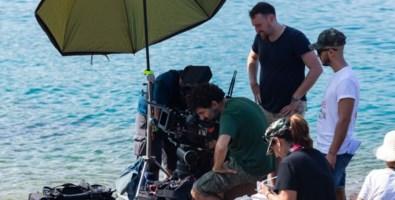 La troupe al lavoro durante le riprese a Tonnara di Palmi