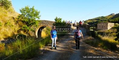 Un tratto del Cammino Mariano Pollino nei pressi di Cassano allo Ionio