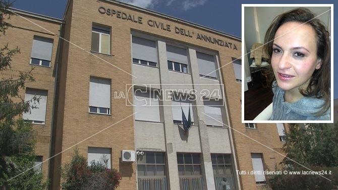 L'ospedale dell'Annunziata di Cosenza. Nel riquadro Mariangela Colonnese