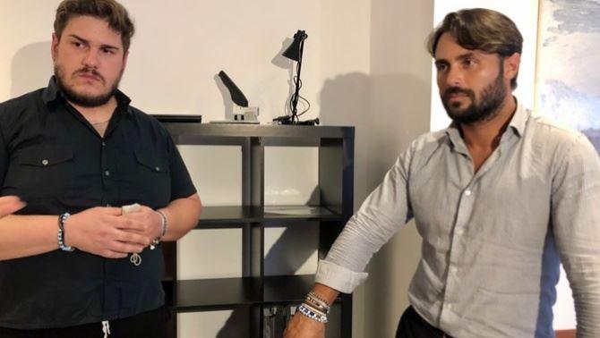 Marcello Cannale e l'avvocato Stefano Remine, foto ansa