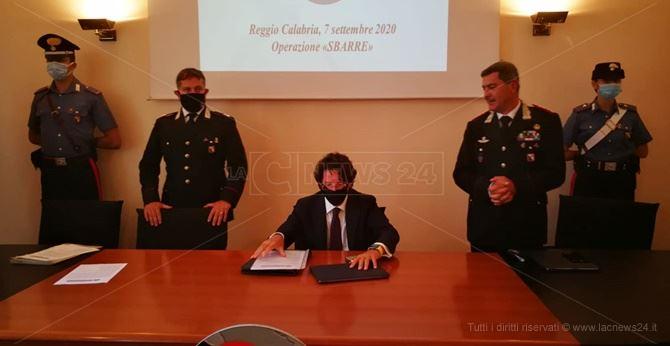 La conferenza stampa dell'operazione Sbarre