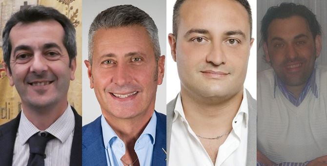 Da sinistra Scionti, Biasi, Prestileo e Speranza