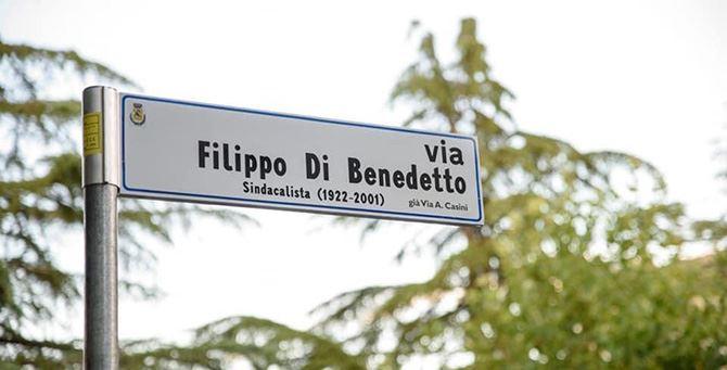 La strada intitolata a Di Bendetto
