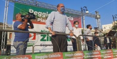 Il segretario Zingaretti e il candidato Falcomatà