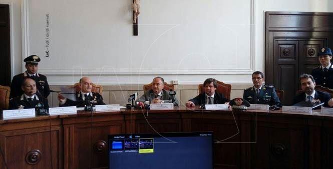 La conferenza stampa dell'operazione Jonny
