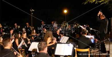 L'orchestra di fiati di Morano Calabro durante l'esibizione