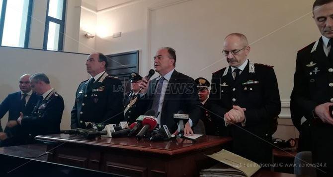 La conferenza stampa dell'operazione Rinascita