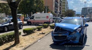 Nelle foto le due auto coinvolte nello scontro