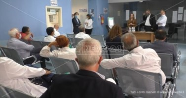 La senatrice Vono e i vertici Asp a Soverato, in arrivo risorse per l'ospedale