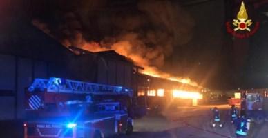 Vasto incendio divampa al porto di Ancona, chiusi parchi e scuole