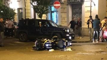 La moto coinvolta nel tragico impatto (Foto Cosenza 2.0)