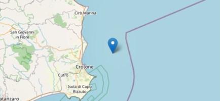 Terremoto al largo di Crotone, trema la Costa ionica calabrese