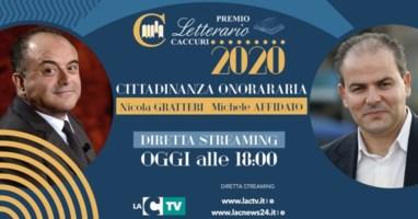 Premio Caccuri, la cittadinanza onoraria a Gratteri e Affidato: la diretta su LaC Tv