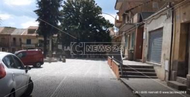 Le strade deserte questa mattina a Stefanaconi