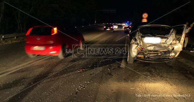 Una foto scattata sul luogo dell'incidente