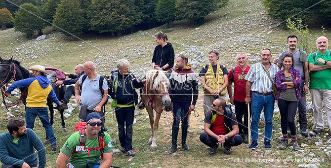 Il team di esperti Unesco con i funzionari del Parco sul Pollino