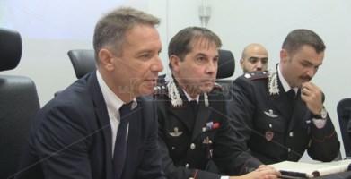 Il procuratore Falvo e gli ufficiali Bruno Capece e Gianfranco Pino