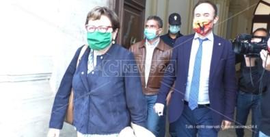 La commissione straordinaria dell'Asp di Catanzaro. Luisa Latella e Salvatore Gullì