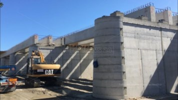 I lavori al ponte Allaro