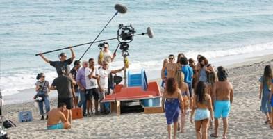 Set cinematografico del film sulla spiaggia di Roccelletta di Borgia (Cz)