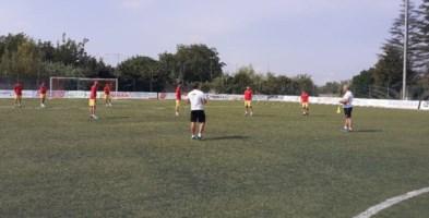 Il Cittanova durante un allenamento