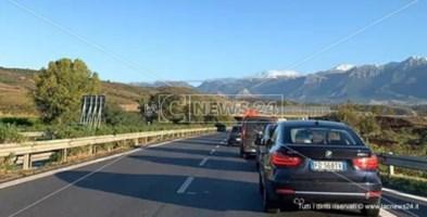 Il tratto autostradale che attraversa la provincia di Cosenza