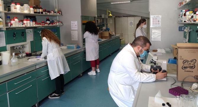 I ricercatori di Macrofarm in laboratorio