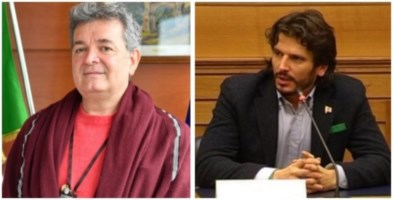 Nino Spirlì (foto Regione Calabria) e Cristian Invernizzi (foto da fb)