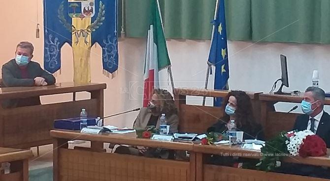 Nino Spirlì all'insediamento del sindaco Roy Biasi
