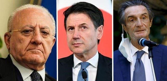 Da sinistra: De Luca, Conte e Fontana