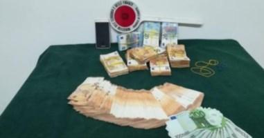 I soldi sequestrati a Roseto Capo Spulico