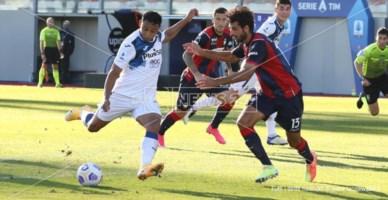 """Crotone ancora sconfitto: allo """"Scida"""" passa 2-1 l'Atalanta"""