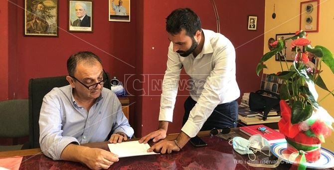 Da sinistra il sindaco Cennamo e l'assessore prociv Quercia