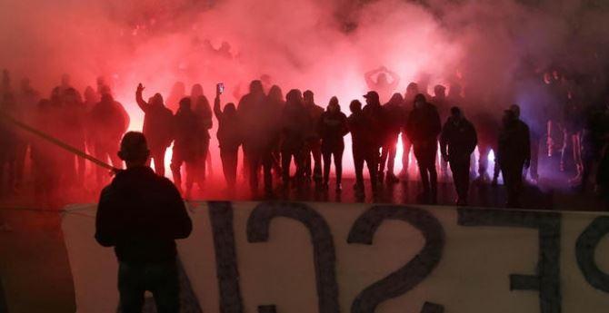 Proteste a Brescia, foto ansa