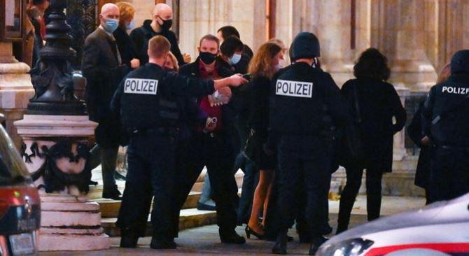 L'attacco a Vienna, foto ansa