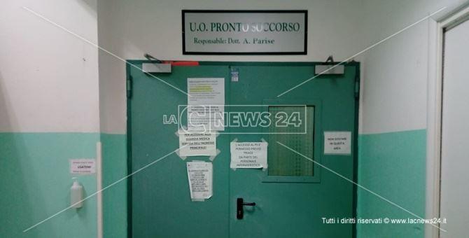 L'ingresso del pronto soccorso dell'ospedale di Praia