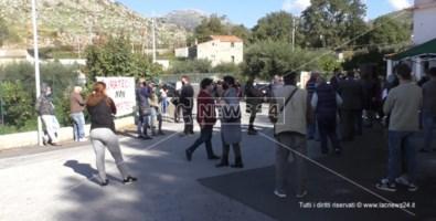 Un momento della protesta