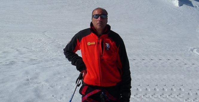 Eugenio Iannelli sul Monte Bianco