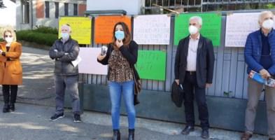 Un momento della protesta di Cittanova
