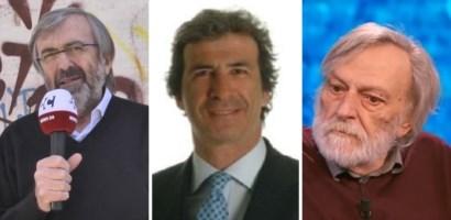 Da sinistra Giuseppe Zuccatelli, Federico Maurizio D'Andrea e Gino Strada